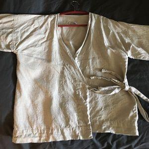 Linen Kimono Wrap